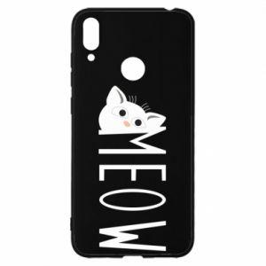 Etui na Huawei Y7 2019 Kot napis Meow