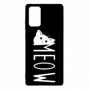Etui na Samsung Note 20 Kot napis Meow