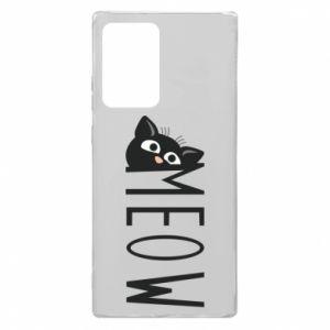 Etui na Samsung Note 20 Ultra Kot napis Meow