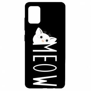 Etui na Samsung A51 Kot napis Meow