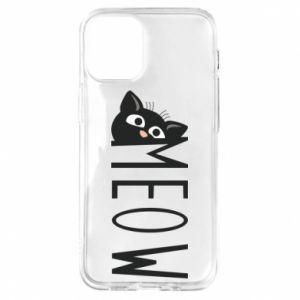 Etui na iPhone 12 Mini Kot napis Meow
