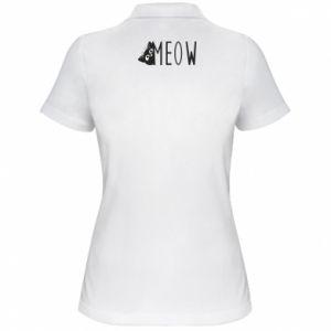 Damska koszulka polo Kot napis Meow