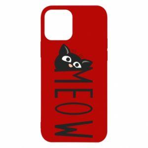 Etui na iPhone 12/12 Pro Kot napis Meow