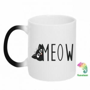 Chameleon mugs Cat inscription Meow