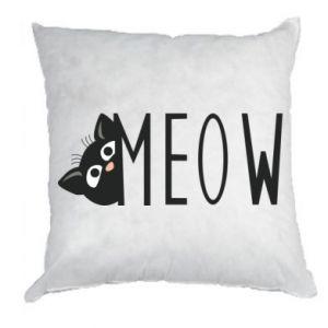 Poduszka Kot napis Meow
