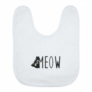 Śliniak Kot napis Meow