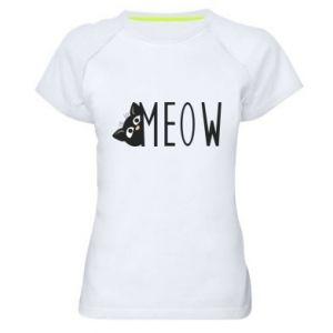 Damska koszulka sportowa Kot napis Meow