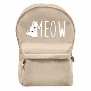 Plecak z przednią kieszenią Kot napis Meow
