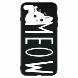 Etui na iPhone 7 Plus Kot napis Meow
