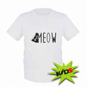 Dziecięcy T-shirt Kot napis Meow