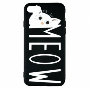 Etui na iPhone 8 Kot napis Meow