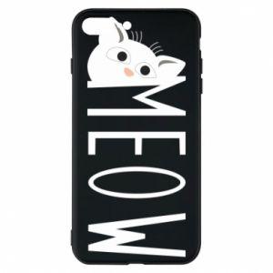 Etui na iPhone 8 Plus Kot napis Meow