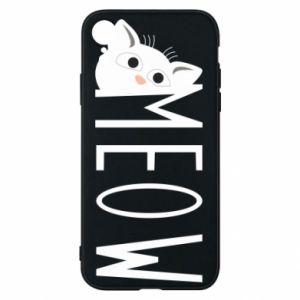 Etui na iPhone XR Kot napis Meow