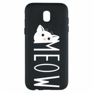 Etui na Samsung J5 2017 Kot napis Meow
