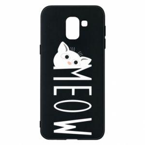 Etui na Samsung J6 Kot napis Meow