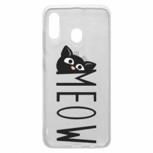 Etui na Samsung A20 Kot napis Meow
