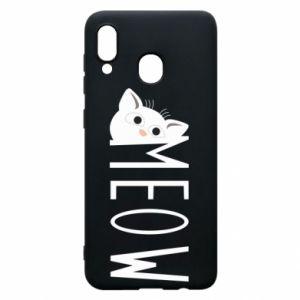 Etui na Samsung A30 Kot napis Meow