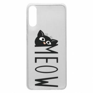 Etui na Samsung A70 Kot napis Meow