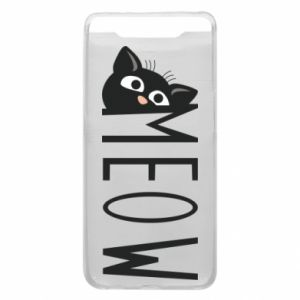 Etui na Samsung A80 Kot napis Meow