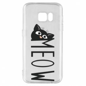 Etui na Samsung S7 Kot napis Meow