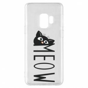 Etui na Samsung S9 Kot napis Meow