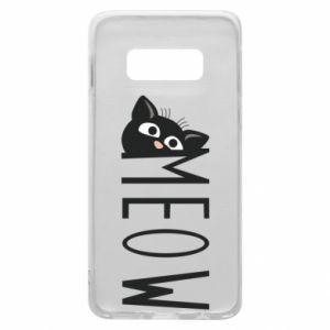 Etui na Samsung S10e Kot napis Meow