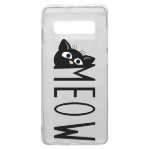 Etui na Samsung S10+ Kot napis Meow