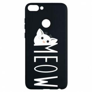 Etui na Huawei P Smart Kot napis Meow