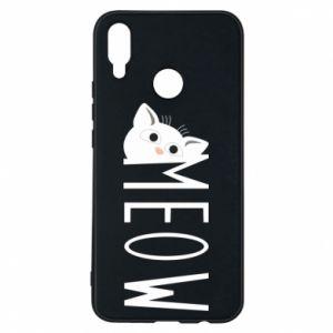 Etui na Huawei P Smart Plus Kot napis Meow
