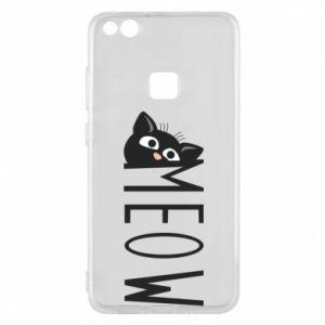 Etui na Huawei P10 Lite Kot napis Meow