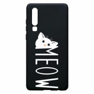 Etui na Huawei P30 Kot napis Meow