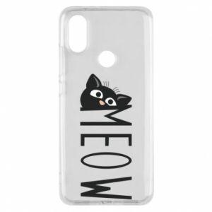 Etui na Xiaomi Mi A2 Kot napis Meow