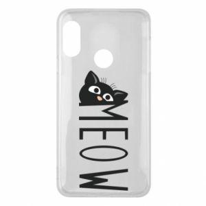 Etui na Mi A2 Lite Kot napis Meow