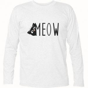 Koszulka z długim rękawem Kot napis Meow