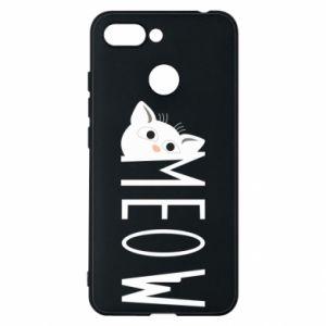 Etui na Xiaomi Redmi 6 Kot napis Meow