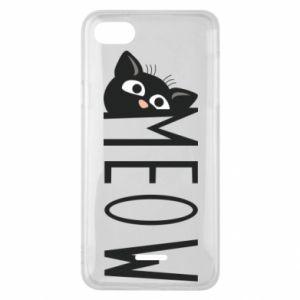 Etui na Xiaomi Redmi 6A Kot napis Meow
