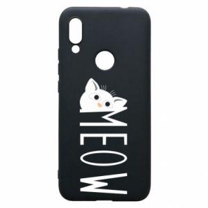 Etui na Xiaomi Redmi 7 Kot napis Meow