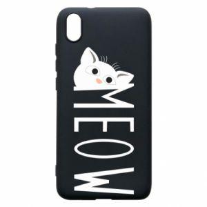 Etui na Xiaomi Redmi 7A Kot napis Meow