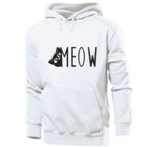 Men's hoodie Cat inscription Meow