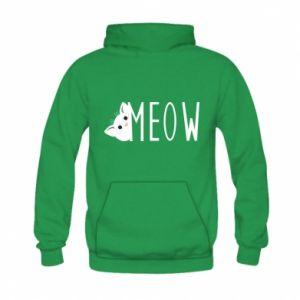 Bluza z kapturem dziecięca Kot napis Meow