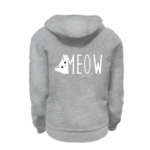 Bluza na zamek dziecięca Kot napis Meow