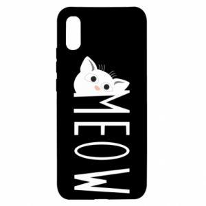 Etui na Xiaomi Redmi 9a Kot napis Meow