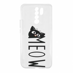 Etui na Xiaomi Redmi 9 Kot napis Meow