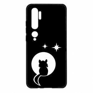 Etui na Xiaomi Mi Note 10 Kot siedzi na księżycu