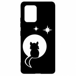 Etui na Samsung S10 Lite Kot siedzi na księżycu