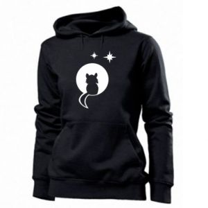 Women's hoodies The cat sits on the moon - PrintSalon