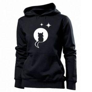 Damska bluza Kot siedzi na księżycu - PrintSalon
