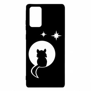 Etui na Samsung Note 20 Kot siedzi na księżycu