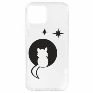 Etui na iPhone 12/12 Pro Kot siedzi na księżycu