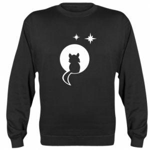 Bluza (raglan) Kot siedzi na księżycu - PrintSalon